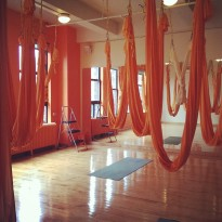 My private aerial yoga class at Om Factory